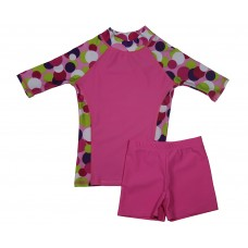 Candy Circles Swim Shirt and Short Shorts Set